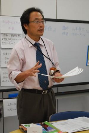 講義中の山本さん。持っている全てを伝えますと言ってくださいました