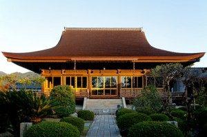 檜皮葺工法が使われている龍福寺本堂